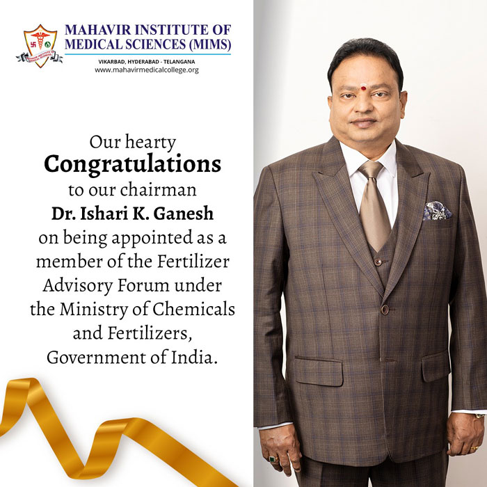 Our Hearty Congratulations to Our Chairman
